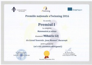 1st National eTwinning Prize