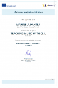 Certificat TEACHING MUSIC WITH CLIL